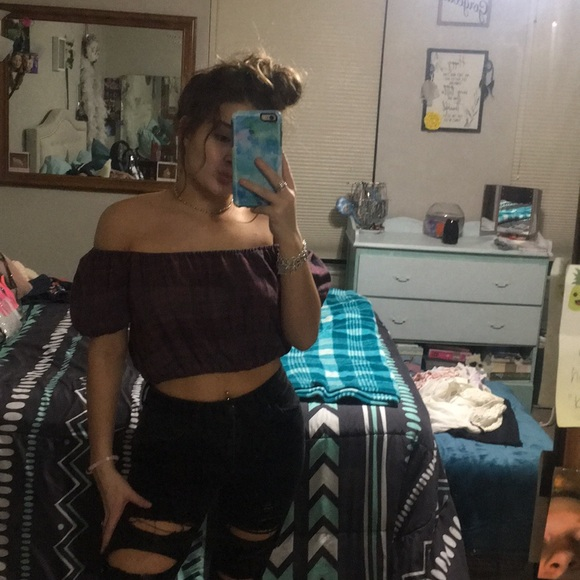 American Eagle Outfitters Tops - off the shoulder top